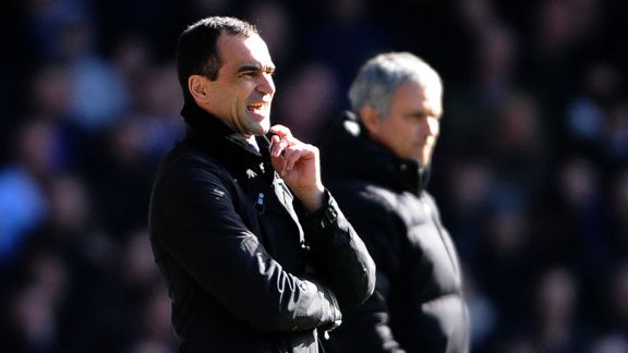 Roberto Martinez Jose Mourinho background Chelsea Everton