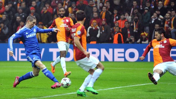 Fernando Torres alternative goal Galatasaray vs Chelsea