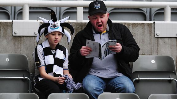 Newcastle fans bored vs Aston Villa