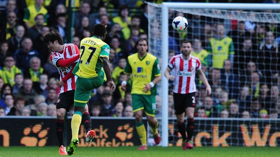 Alex Tettey goal Norwich City vs Sunderland