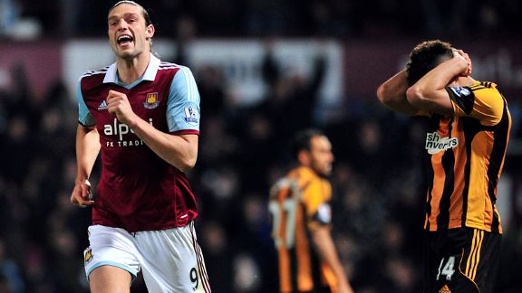Andy Carroll celeb Hull woe vs West Ham