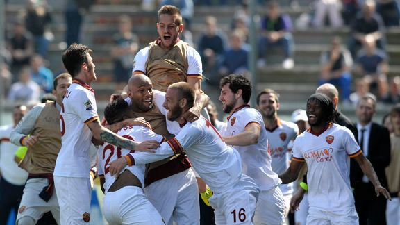 Roma beat Sassuolo in Serie A on Sunday.