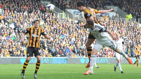 George Boyd goal header Hull Swansea