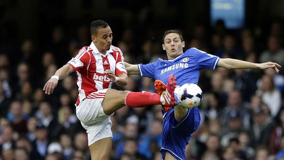 Nemanja Matic Chelsea battle Stoke