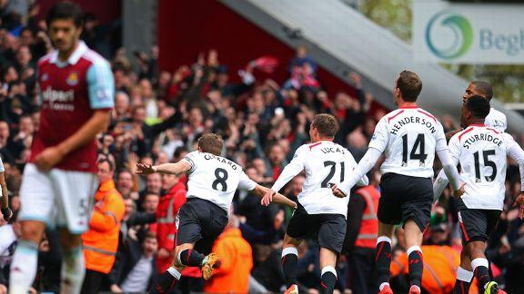 Dua Penalti Gerrard Antar Liverpool Kalahkan West Ham United