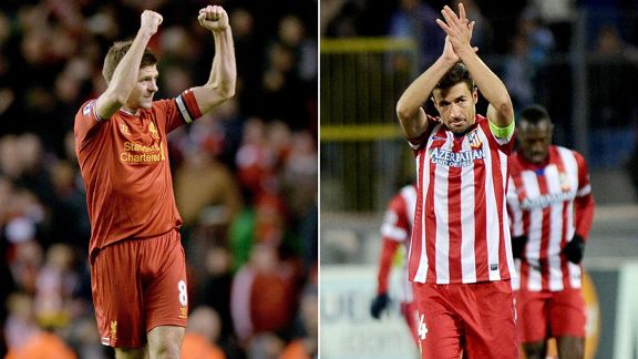 Steven Gerrard Liverpool and Gabi Atletico Madrid
