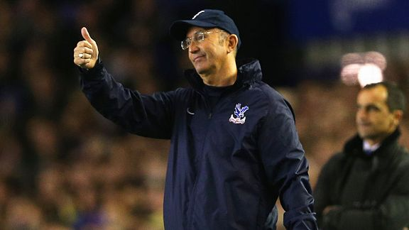 Tony Pulis during the superb victory at Everton.