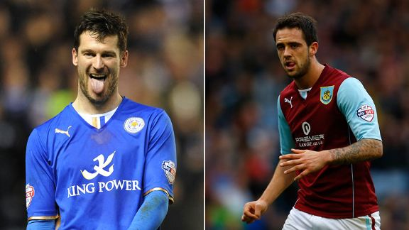 Leicester City David Nugent and Burnley Danny Ings