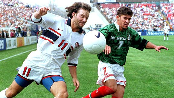 Eric Wynalda and Ramon Ramirez