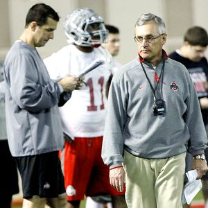 Jim Tressel and Luke Fickell