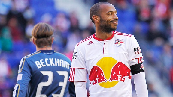 Thierry Henry and David Beckham