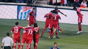 Chicago Fire celebrate