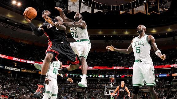 LeBron James vs Celtics