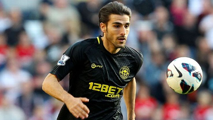 Jordi Gomez scored the first of Wigan's two goals against Atromitos.