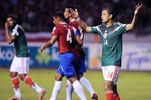 Javier Hernandez was subbed early in the second half against Costa Rica.