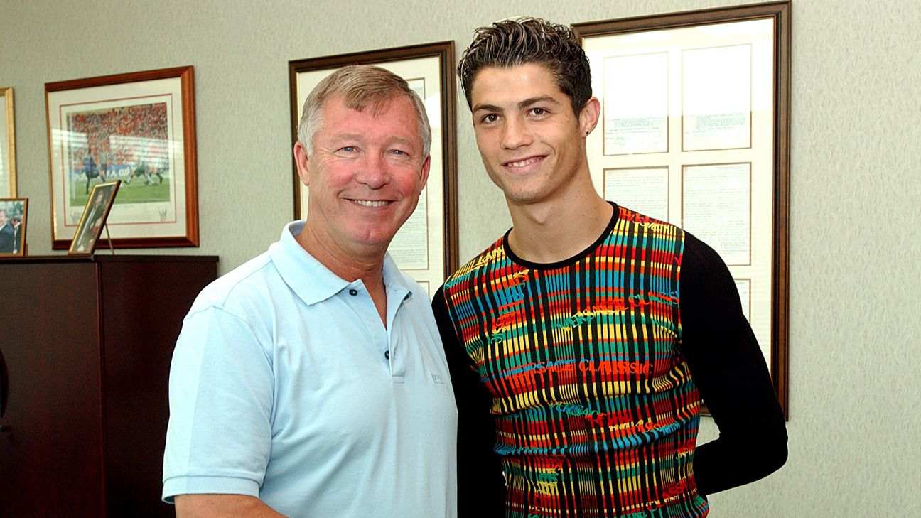 Like father, like son: Ronaldo and his Manchester United manager Sir Alex Ferguson both shared an obsession for winning, like no other
