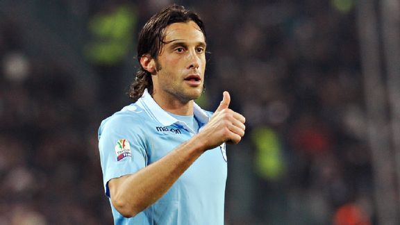 Lazio's thin squad has been affected not only by injuries, but also by the ban of club captain Stefano Mauri.