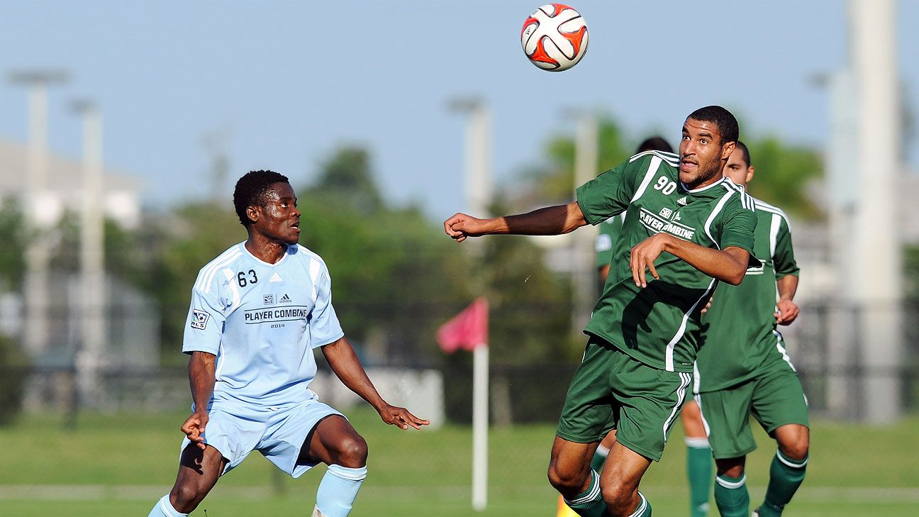 Tesho Akindele, right, enjoyed a great MLS combine and earned his high SuperDraft pick. His work ethic will suit FC Dallas nicely.