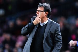 Tata Martino knows there is still a bit of work to be done before Barcelona get through to the last 8.