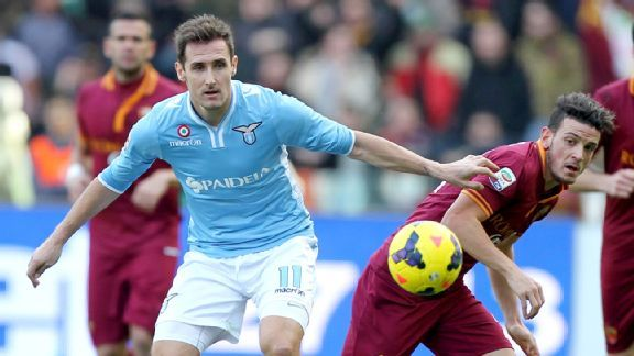 Miroslav Klose and Lazio offered little versus Roma, happy for a point.