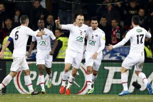 Dimitar Berbatov celebrates after scoring Monaco's extra-time winner.
