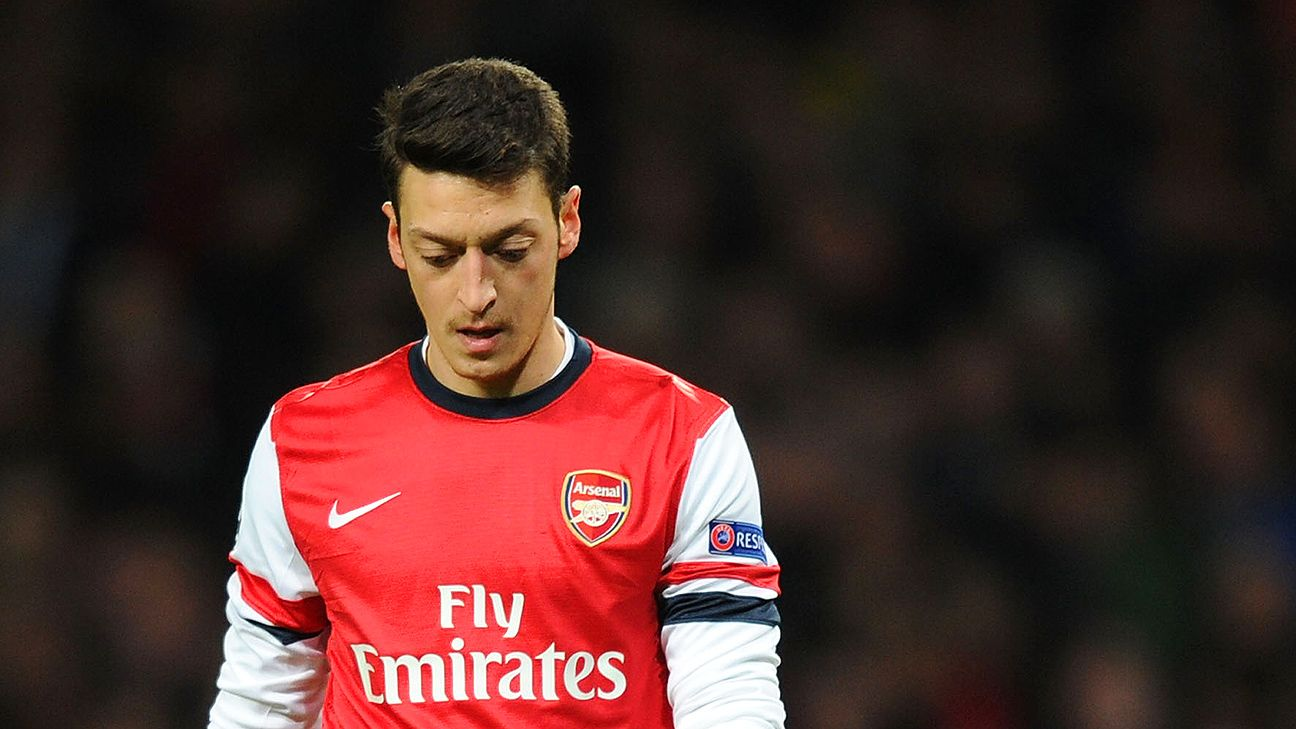Arsenal supporters won't be seeing Mesut Ozil on the pitch until 2015.
