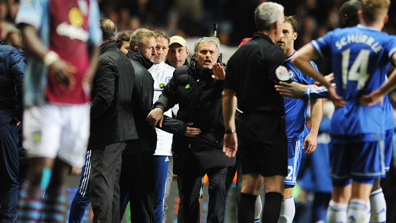 Jose Mourinho is no stranger to exchanging words with match officials.