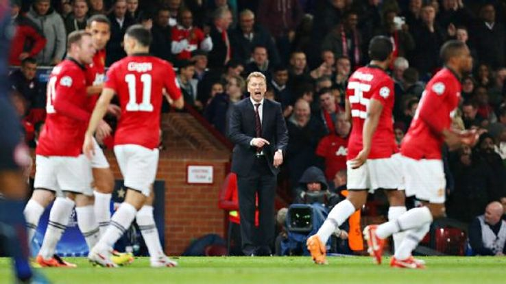 David Moyes' final hope of returning Manchester United to the Champions League next season burst with Wednesday's defeat.