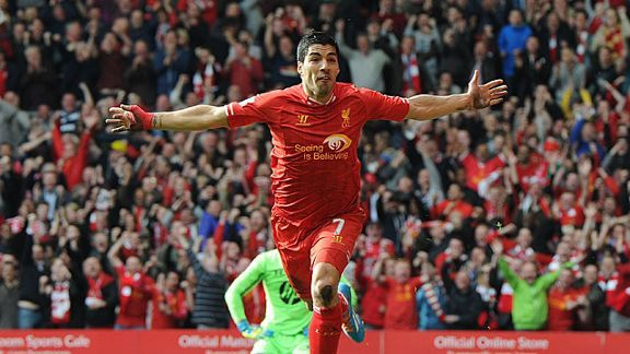 Luis Suarez has a fantastic goal-scoring record against Norwich.