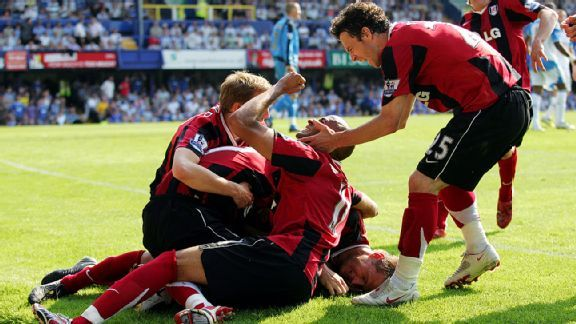 Danny Murphy's goal at Fratton Park against Portsmouth helped Fulham escape relegation at the end of the 2007-08 season.