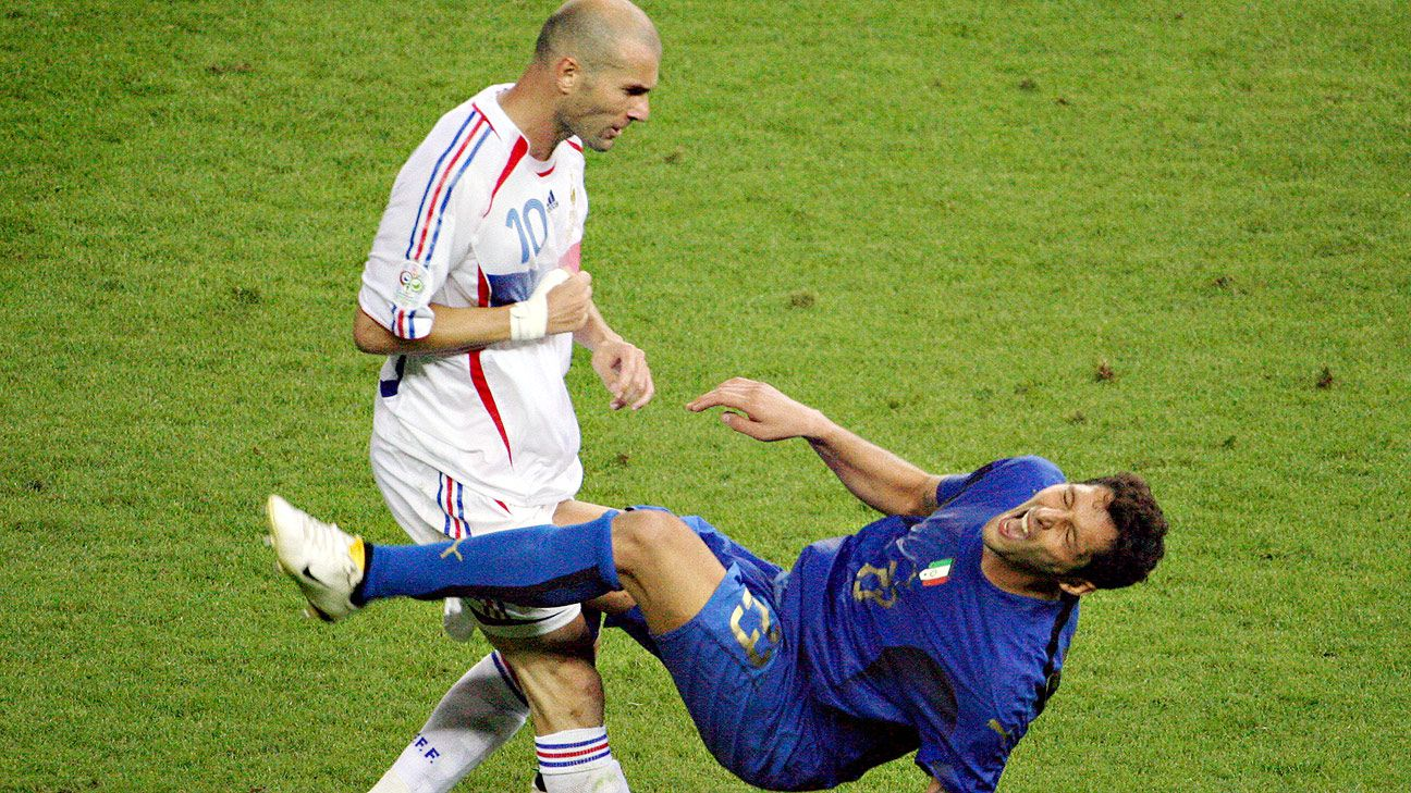 Zinedine Zidane's career ended in shame with a sending off in the 2006 World Cup final.