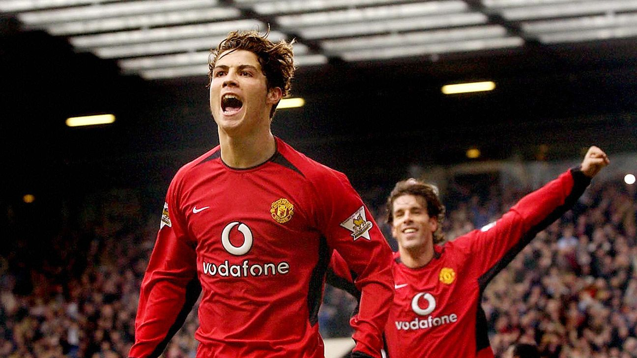 Cristiano Ronaldo scored 118 goals in 292 appearances for Man United in all competitions.
