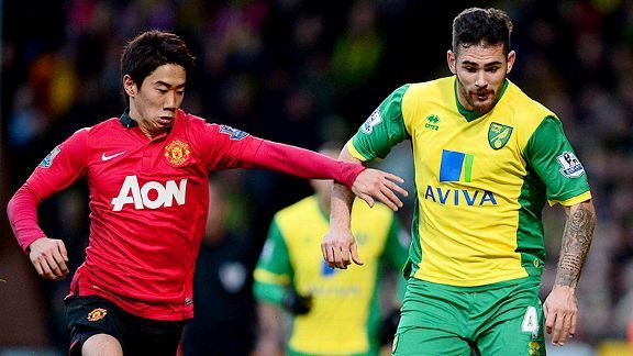 Bradley Johnson and Norwich City hope to continue the turmoil at Old Trafford when they visit Shinji Kagawa and Manchester United.
