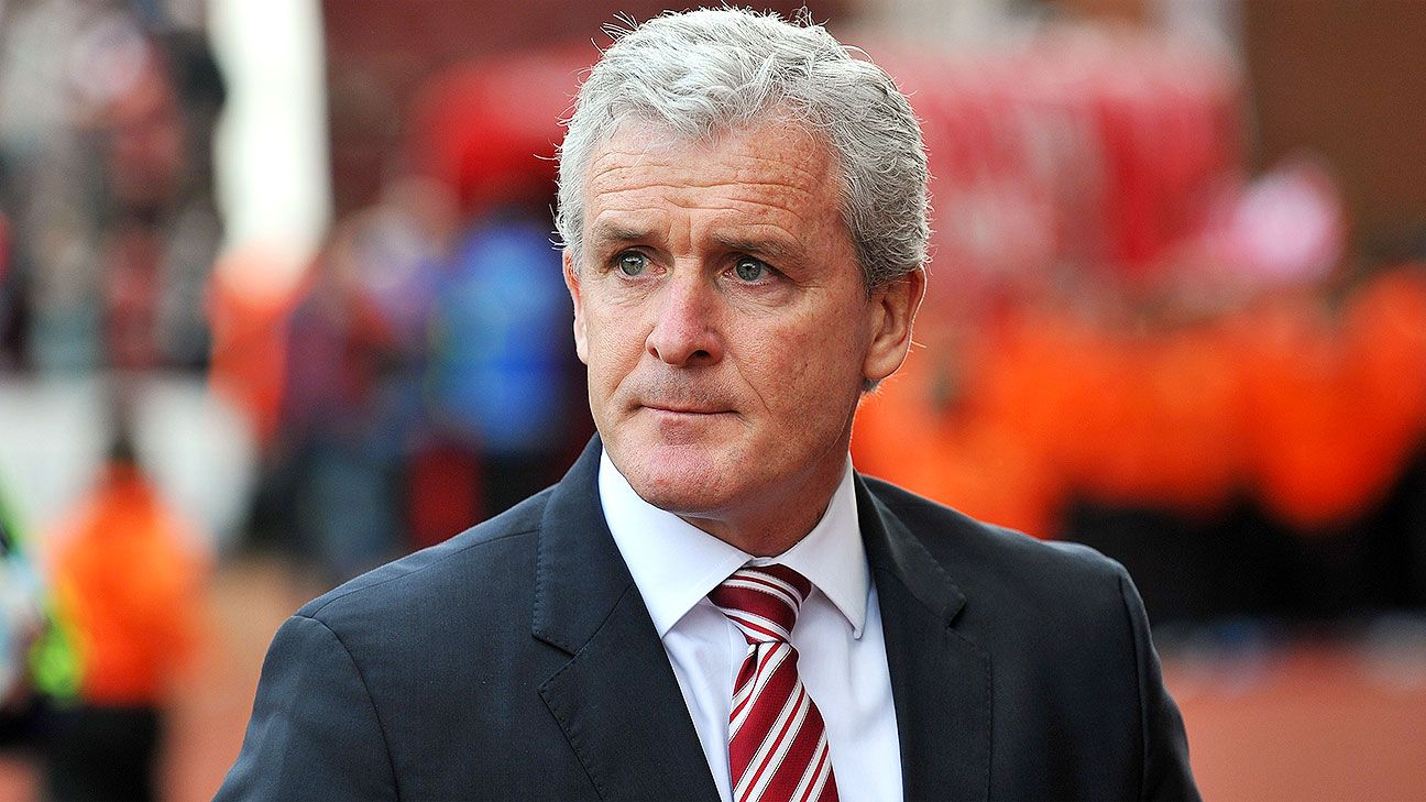 Stoke boss Mark Hughes has some defensive worries to contend with ahead of Hull's visit to the Britannia.