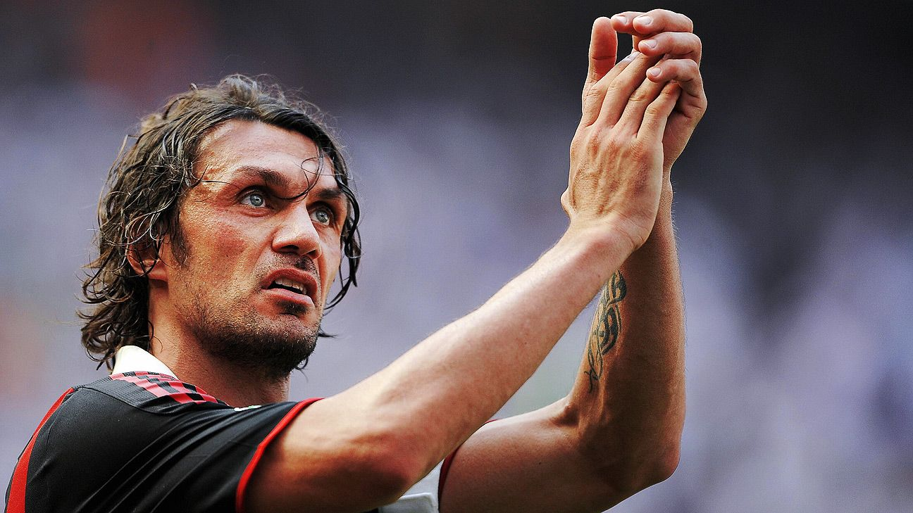 The defender played his whole career at AC Milan, over 600 matches, and retired at 41.