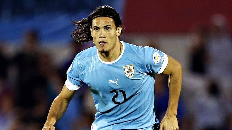 Edinson Cavani will take the mantle from the injured Luis Suarez as Uruguay look to impress.