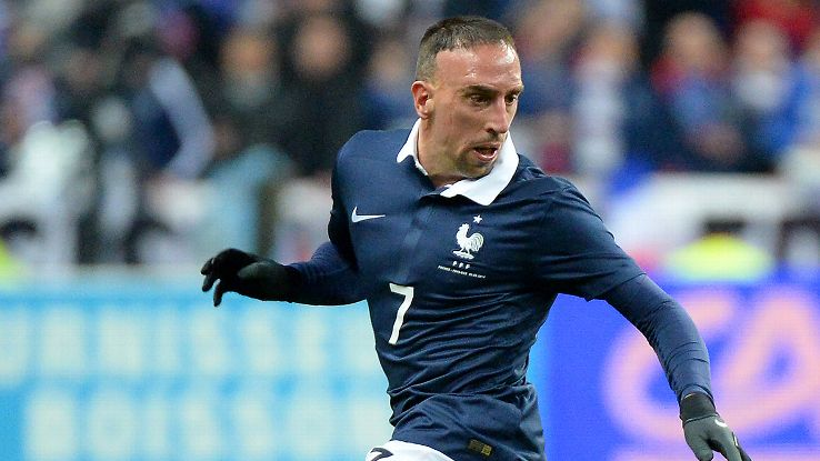 Ribery's lack of match action over the past few weeks makes his World Cup participation seem unlikely.