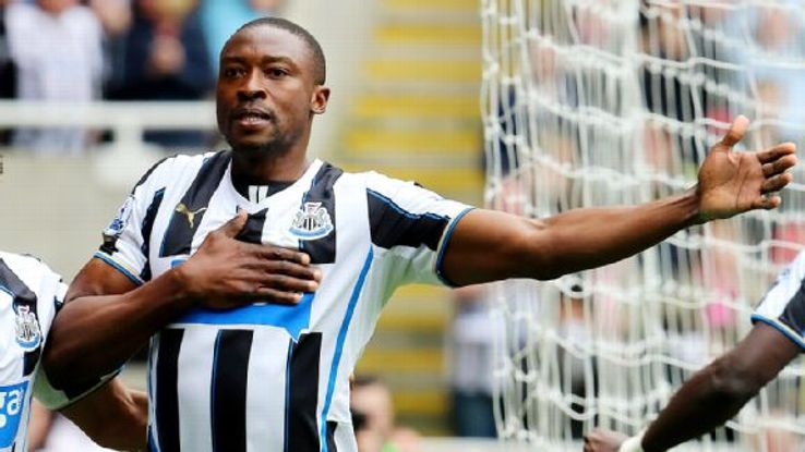 Newcastle striker Shola Ameobi scored in what was likely his final match at St James' Park.