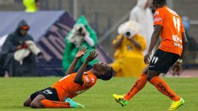 Enner Valencia of Pachuca celebrates after scoring on Sunday.