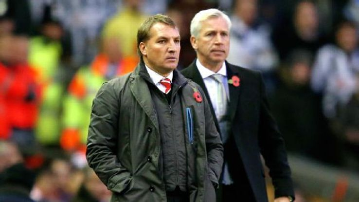 Liverpool manager Brendan Rodgers and Newcastle boss Alan Pardew will square off in Sunday's season finale at Anfield.