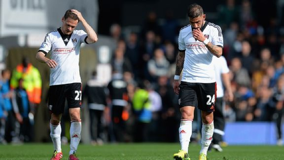 After 13 seasons in the Premier League, Fulham will play the 2014-15 season in the Championship.