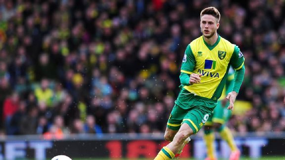 Norwich City striker Ricky van Wolfswinkel had just a single Premier League goal during the 2013-14 season.