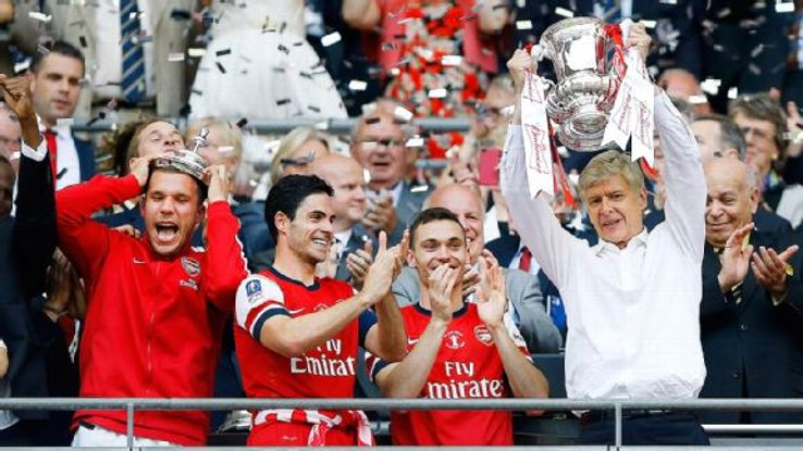 It may have taken 120 minutes and a comeback from 2-0 down, but Arsenal boss Arsene Wenger still delighted in winning his first trophy in nine years.
