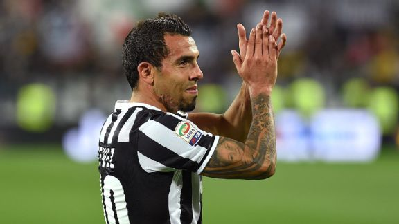 Carlos Tevez scored 19 goals in his first season at Juventus.