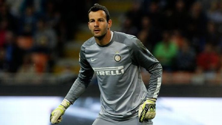 The play of goalkeeper Samir Handanovic was one of the few bright spots for Inter Milan during the 2013-14 season.