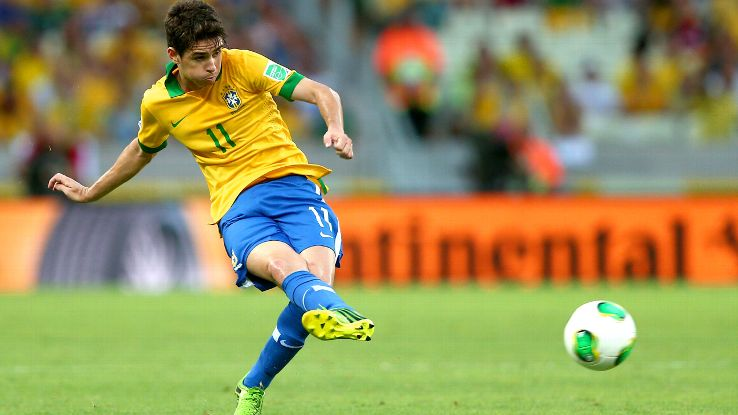 Oscar helped Brazil claim the 2013 Confederations Cup. Can he now help them claim the cup that really matters?