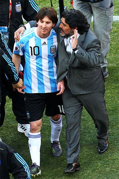 Messi has yet to deliver for Argentina the way his 2010 World Cup coach, Maradona, did 28 years ago.