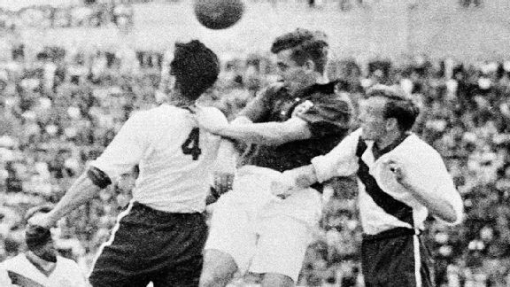 The play of Walter Bahr, right, in the midfield sparked the U.S.'s stunning upset.