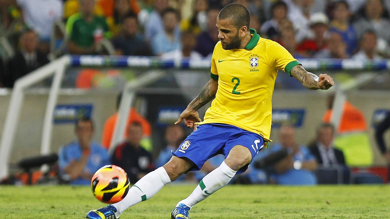 Dani Alves will be competing in his second World Cup for Brazil.