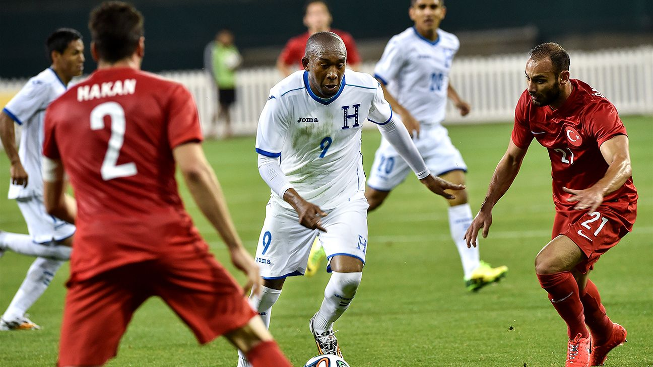 Jerry Palacios and the Honduras attack struggled against Turkey on Thursday.